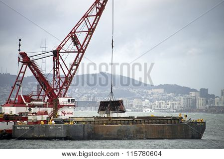 An average of 3-6 million cubic yards of sediments must be dredged yearly in San Francisco Bay