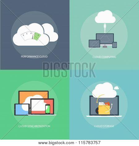 Cloud Computing Technology Concept Design.