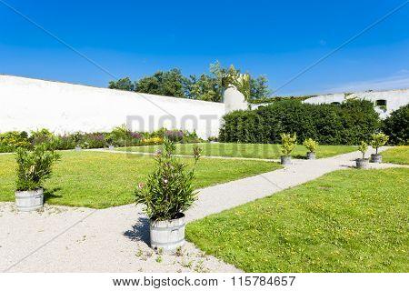 monastery garden in Geras, Lower Austria, Austria