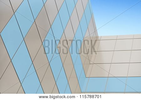 Facing Facade Of The Composite Panels