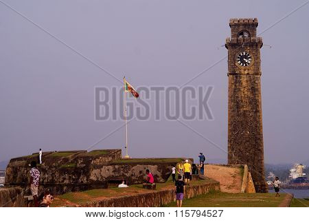Galle, Sri Lanka - December 24, 2013: Galle Fort