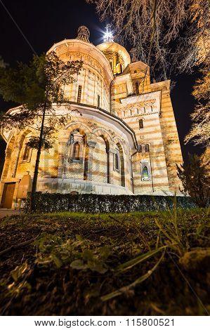Cathedral Of Timisoara At Night
