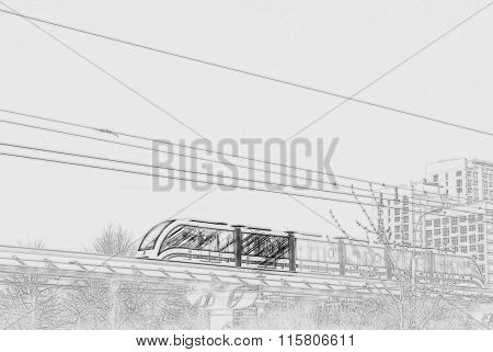 Elevated rapid transit system