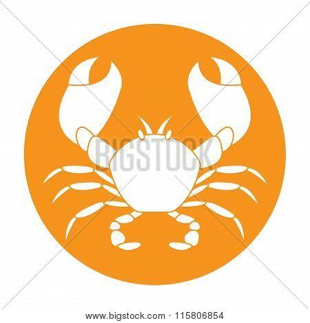 Crab icon. Vector.