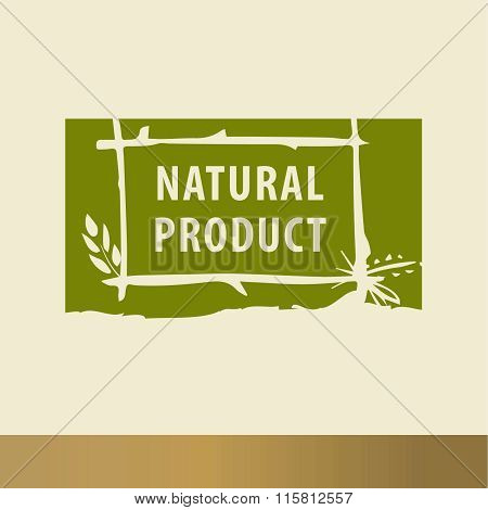 Natural Product Sketch Logo. The Growth Of Plants, Seedlings.