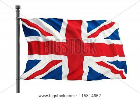 British flag consisting of blue red and white colors