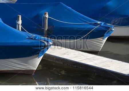 Sailing Boats At The Pier, Chiemsee, Bavaria