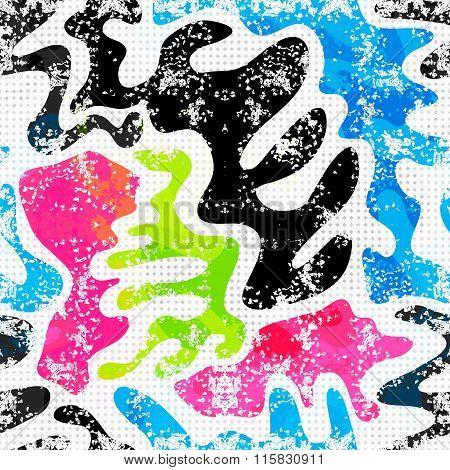 Graffiti Background Urban Art. Seamless Texture
