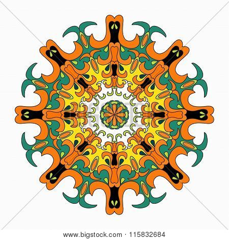 Mandala. Colored Vintage Decorative Elements