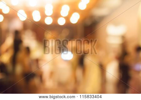 Bokeh Of People At Party