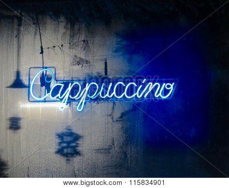 Neon Cappuccino Sign