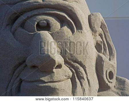 One Eyed Cyclops Made out of Sand
