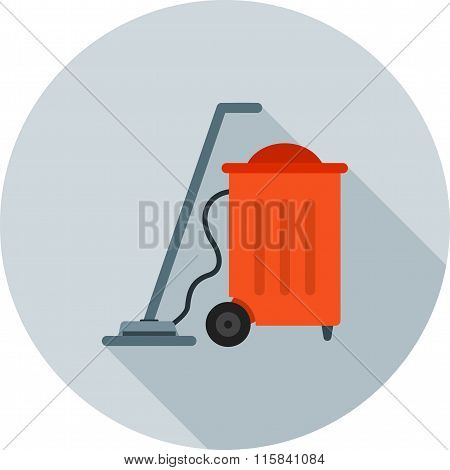 Vaccum, cleaner, dust icon vector image.Can also be used for hotel and restaurant. Suitable for mobile apps, web apps and print media. poster