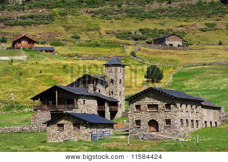 Typical Architecture In Andorra, at Vall d'Incles poster