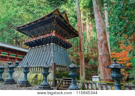 Belfry (Shoro) at Taiyuinbyo - the Mausoleum of Shogun Tokugawa Iemitsu poster