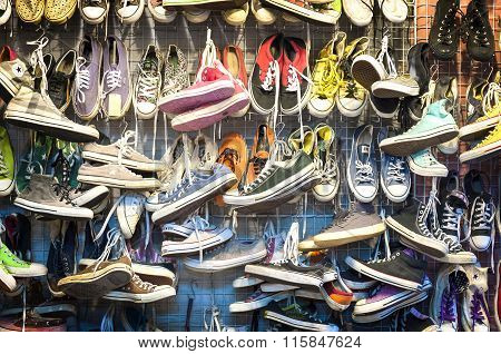 Second-hand Trainers At Chatuchak Market, Bangkok