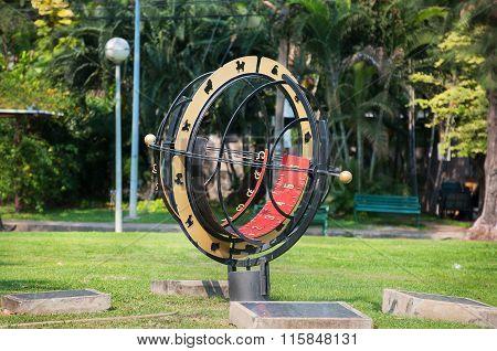 Large Sundial In Lumpini Park, Bangkok, Thailand
