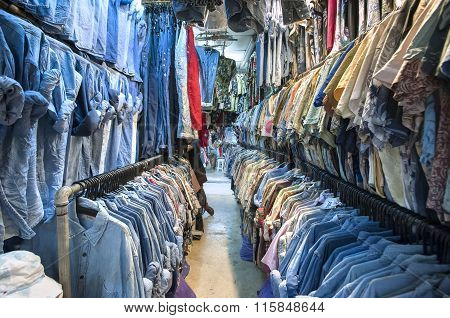 Vintage Shirts At Chatuchak Weekend Market, Bangkok