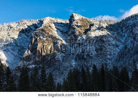 Close Up Mountian In The Winter