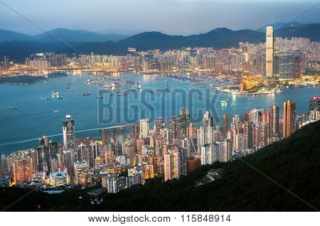 The Hong Kong Cityscape Seen From High West
