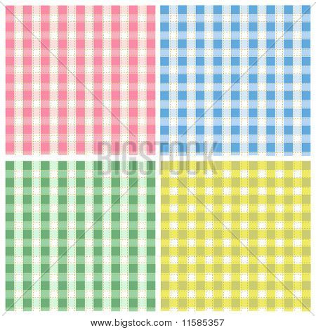 colorful seamless patterns fabric texture set on the white background poster