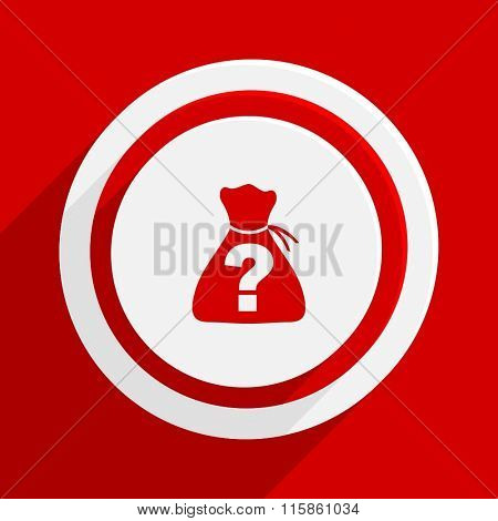riddle red vector flat icon