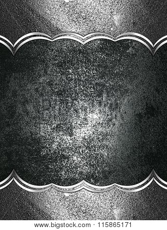 Grunge Metal Background With A Frame. Element For Design. Template For Design. Copy Space For Ad Bro