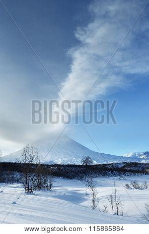 Klyuchevskaya Sopka - Eruption Active Volcano Of Kamchatka Peninsula