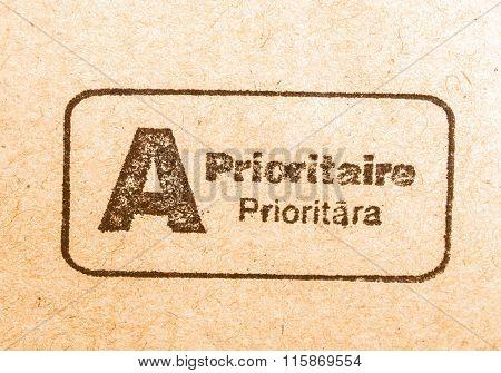 Priority Mail Postmark Vintage