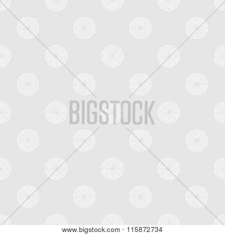 Polka Dot In White Circles Of Multiple Lines On Light Grey Background
