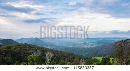 Mountain view of the Gold Coast Hinterlands