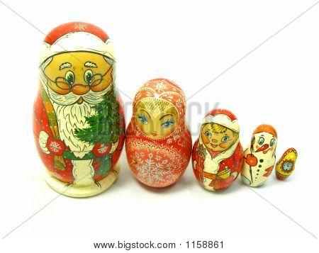 Holiday Nesting Dolls