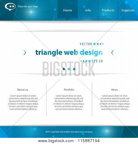 Abstract Creative concept vector website template. For modern web and mobile Applications isolated o