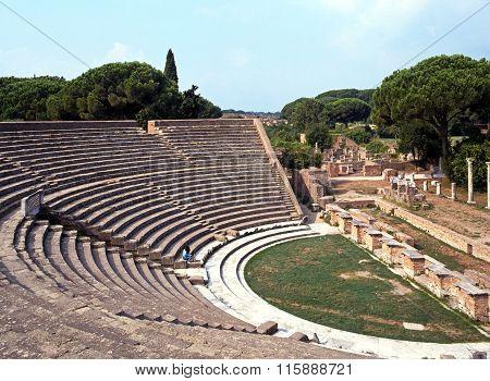 Roman theatre, Ostia Antica.