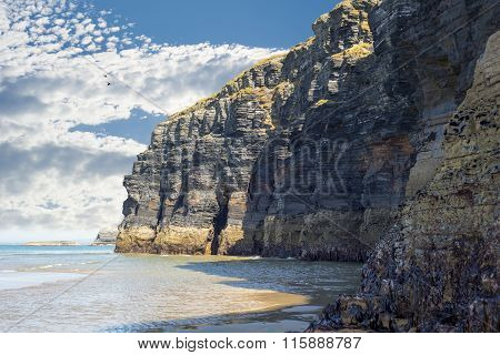 Cliffs On The Wild Atlantic Way At Low Tide