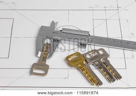 Vernier Caliper And The Keys