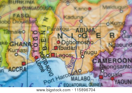Nigeria Country Map .