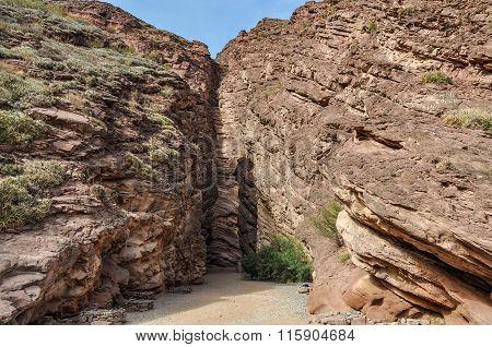 La Garganta Del Diablo In The Quebrada De Las Conchas, Argentina