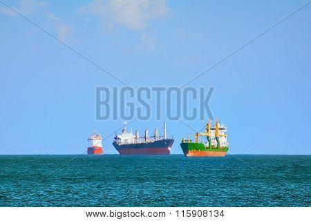 Cargo Ships In Black Sea