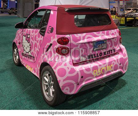 Hello Kitty Smart Fortwo Ed Cabrio Ev