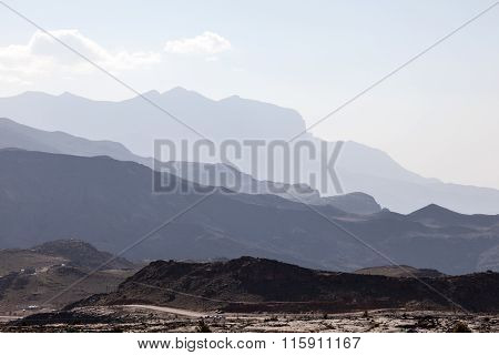 Jebel Shams Mountains In Oman