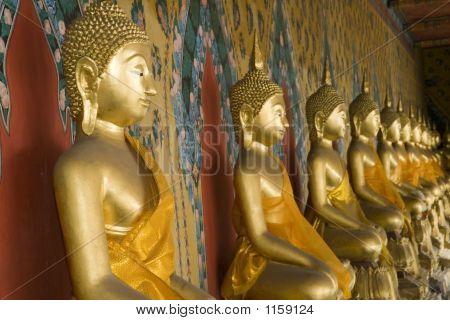 Buddhas At Wat Arun