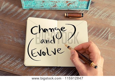 Handwritten Text Change And Evolve