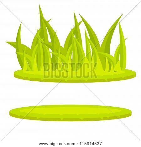 Grass Lawn Green Cartoon Vector Clip Art.