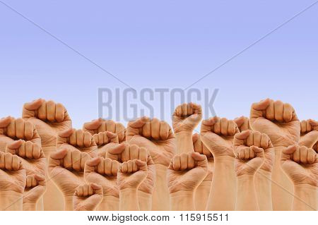 hand abstract pattern background