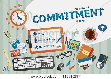 Commitment Design Concept. Typographic Poster.