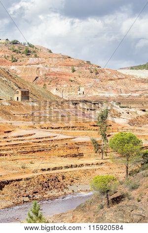 Open pit copper mine in Rio Tinto, Spain