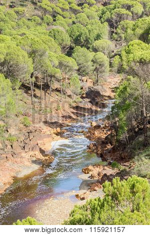 River bed Tinto, Huelva, Andalusia, Spain.