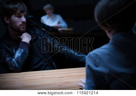 Young Man Interrogated