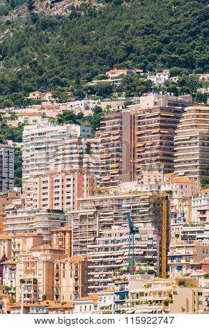 Monaco, Monte Carlo architecture background. Many houses, buildi